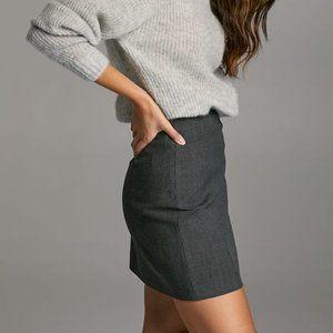 Babaton Modern Check Plaid, A-line Mini Skirt